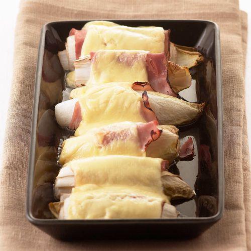 witlof uit de oven met ham en kaas - recept - okoko recepten