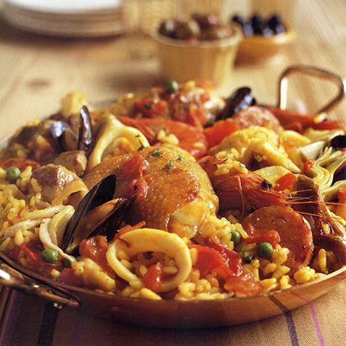 Paella Met Schaal En Schelpdieren En Gemengd Vlees Recept Okoko