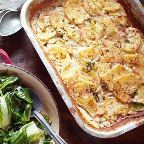 jamie oliver: snelle aardappelgratin - recept - okoko recepten