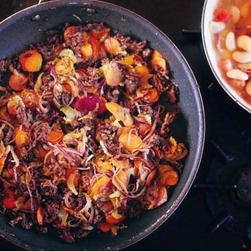 jamie oliver: supersnelle hachee met rundergehakt - recept - okoko
