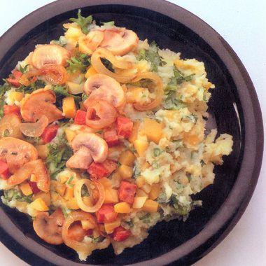 koolraap stamppot met andijvie en champignons - recept - okoko recepten