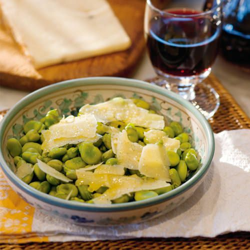 tuinbonen met pecorino - recept - okoko recepten