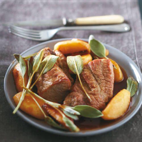 Gesmoorde varkenshaas met appel uit de slow cooker recept okoko recepten - Krat met appel ...