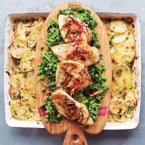 Jamie oliver kipfilet met gesmoorde groenten en aardappelgratin recept okoko recepten - Jamie en 15 minutes ...